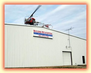 B47HA BULLDOG building_w_helicopter